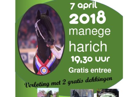 Hengstenshow zaterdag 7 april Manege Gaasterland